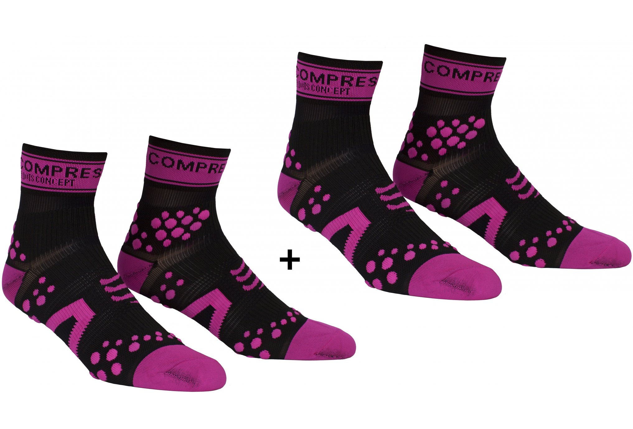 Compressport Pack Pro Racing V2 Run High Chaussettes