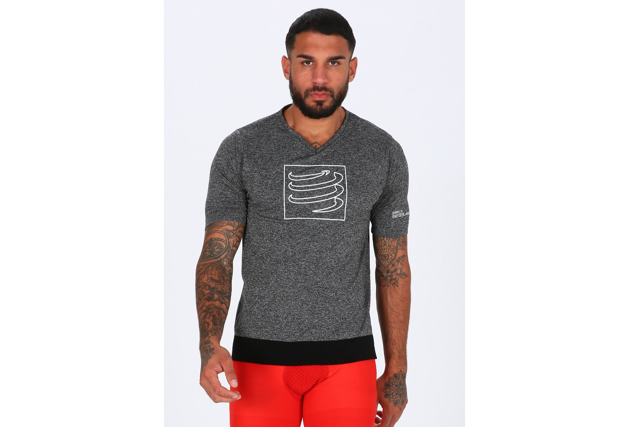 Compressport Training Tshirt M vêtement running homme