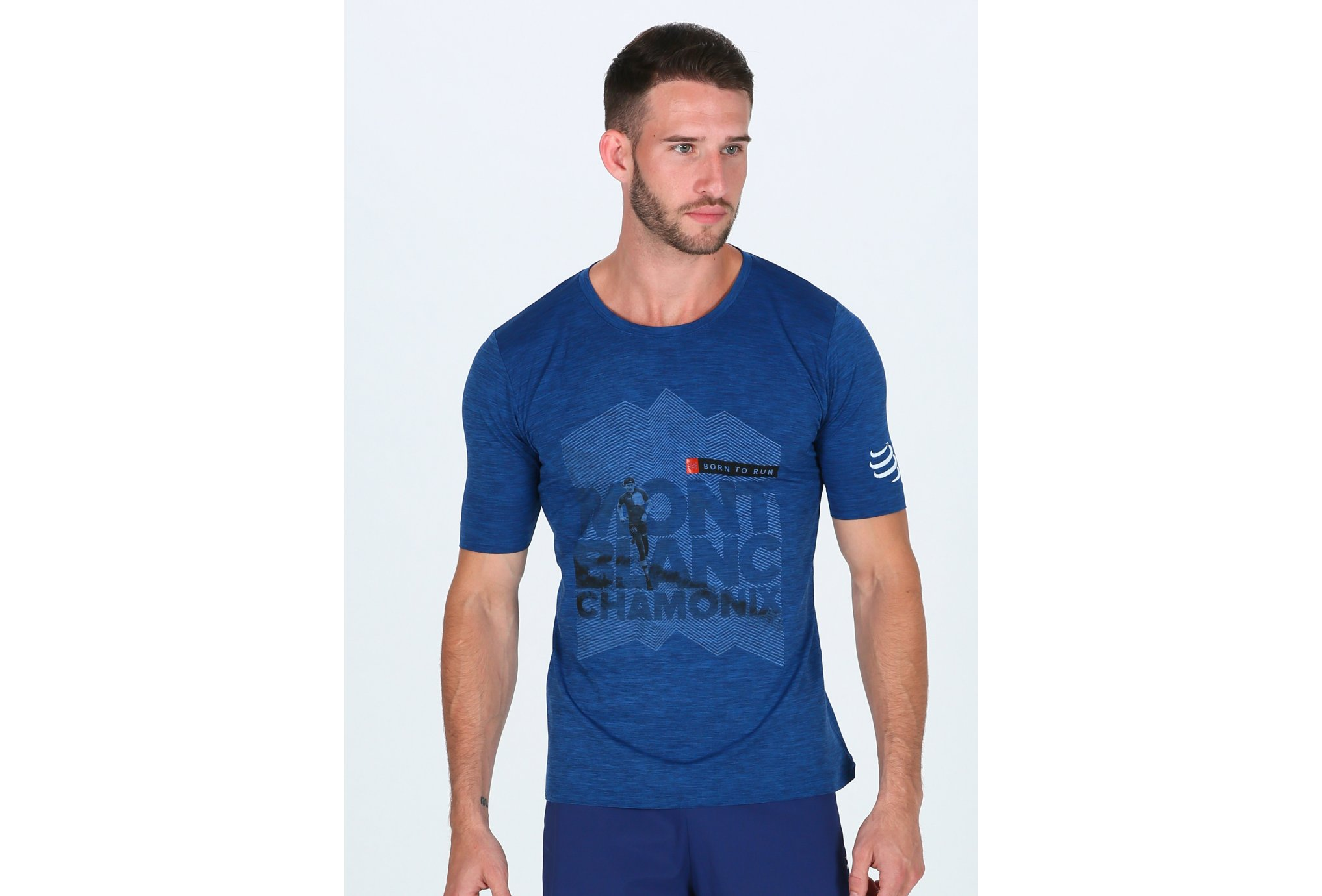 Compressport Training Tshirt Mont Blanc 2018 M vêtement running homme