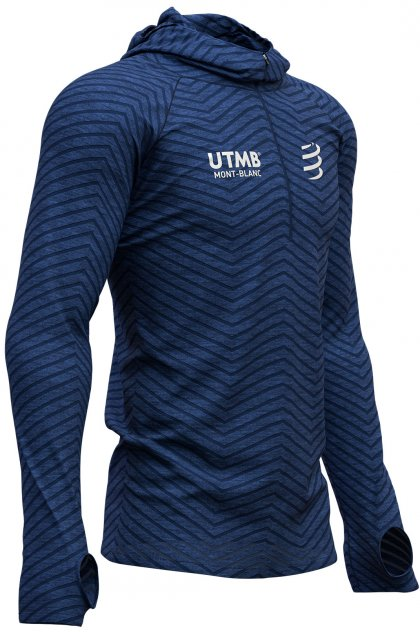 Compressport camiseta manga larga Ultra Trail 180 g Racing Hoodie UTMB 2019