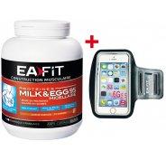 EAFIT Milk & EGG 95 micellaire 750g caramel + brassard