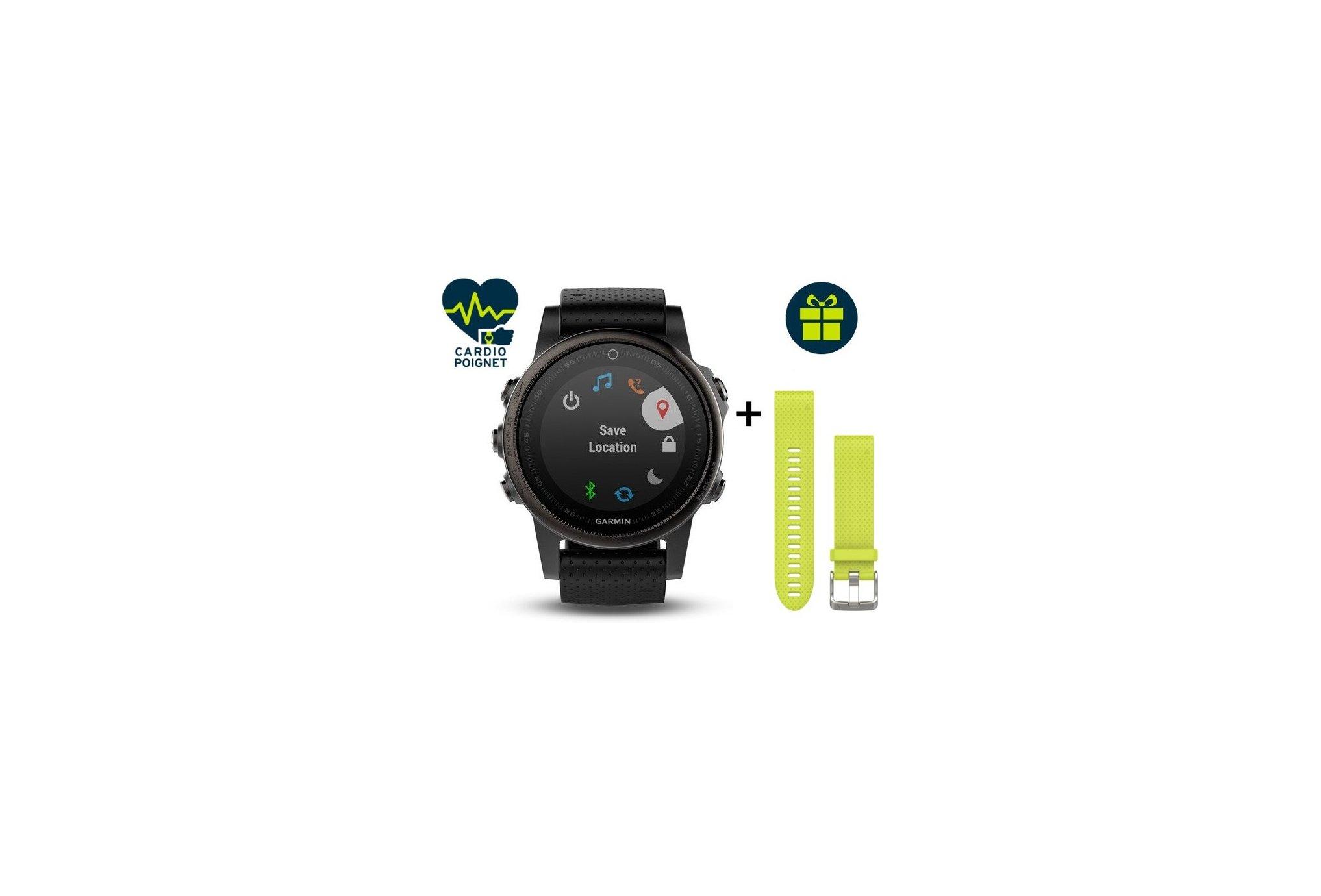Garmin Reloj Fénix 5 S GPS Multisports Sapphire Black Cardio-Gps