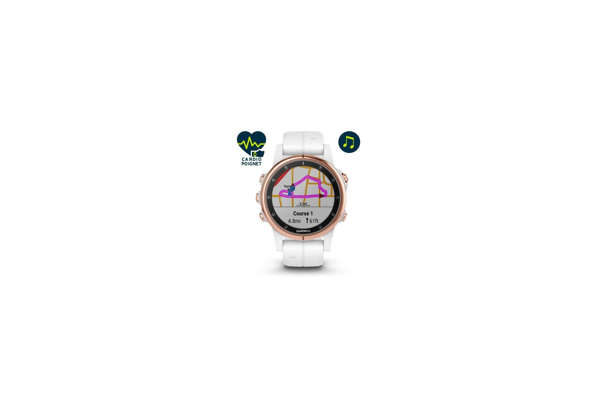 Garmin Fenix 5S Plus Rose Gold Sapphire Cardio-Gps