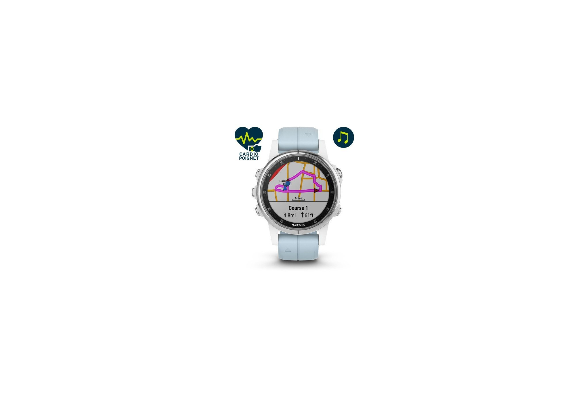Garmin Fenix 5S Plus Silver Cardio-Gps