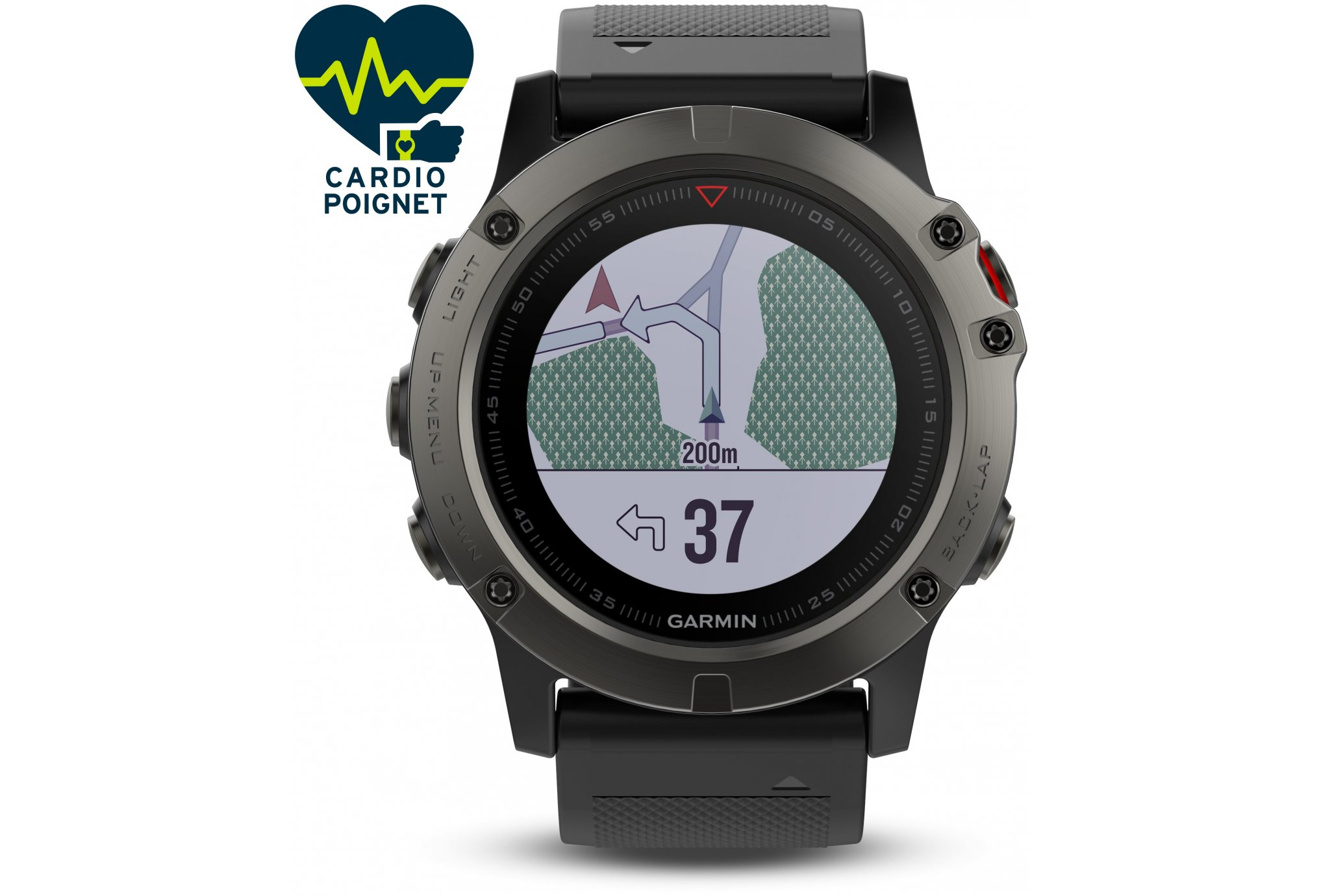 Garmin Fenix 5X GPS Multisports Sapphire Cardio-Gps