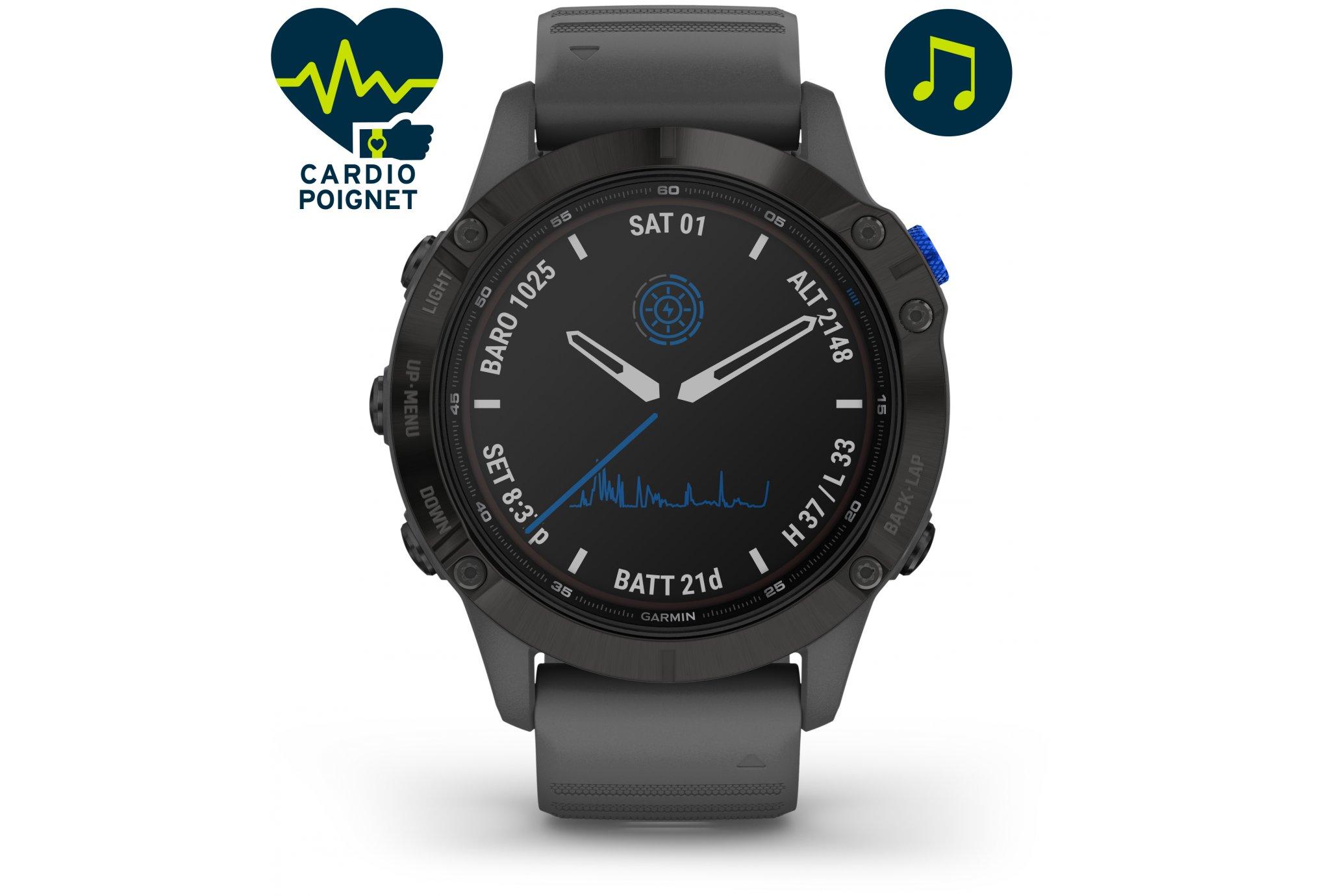 Garmin Fenix 6 Pro Solar Cardio-Gps