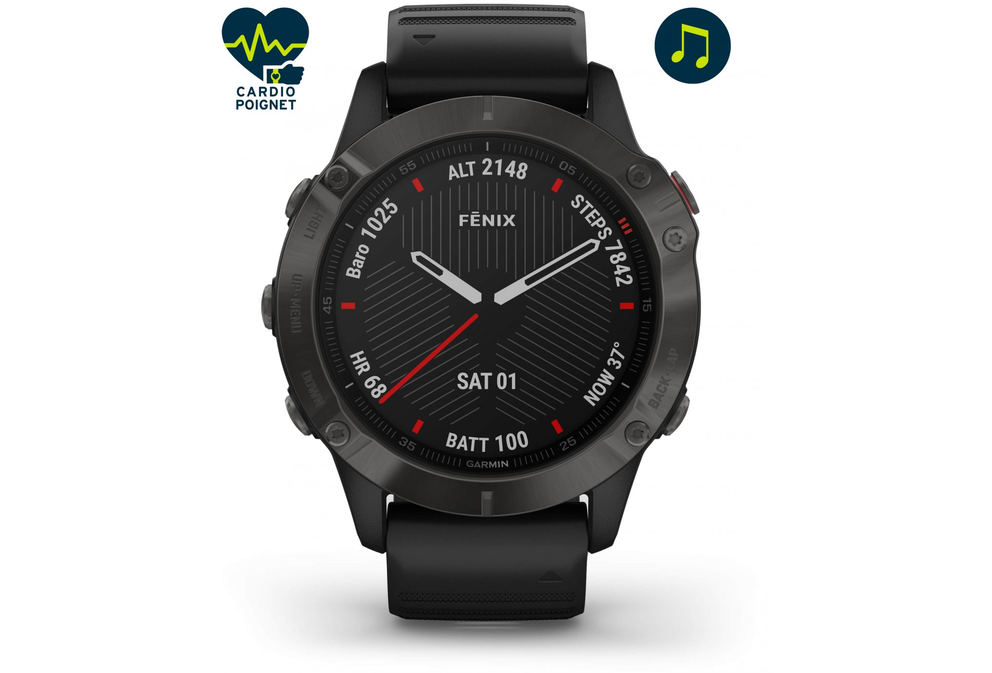 Garmin Fenix 6 Zafiro Cardio-Gps