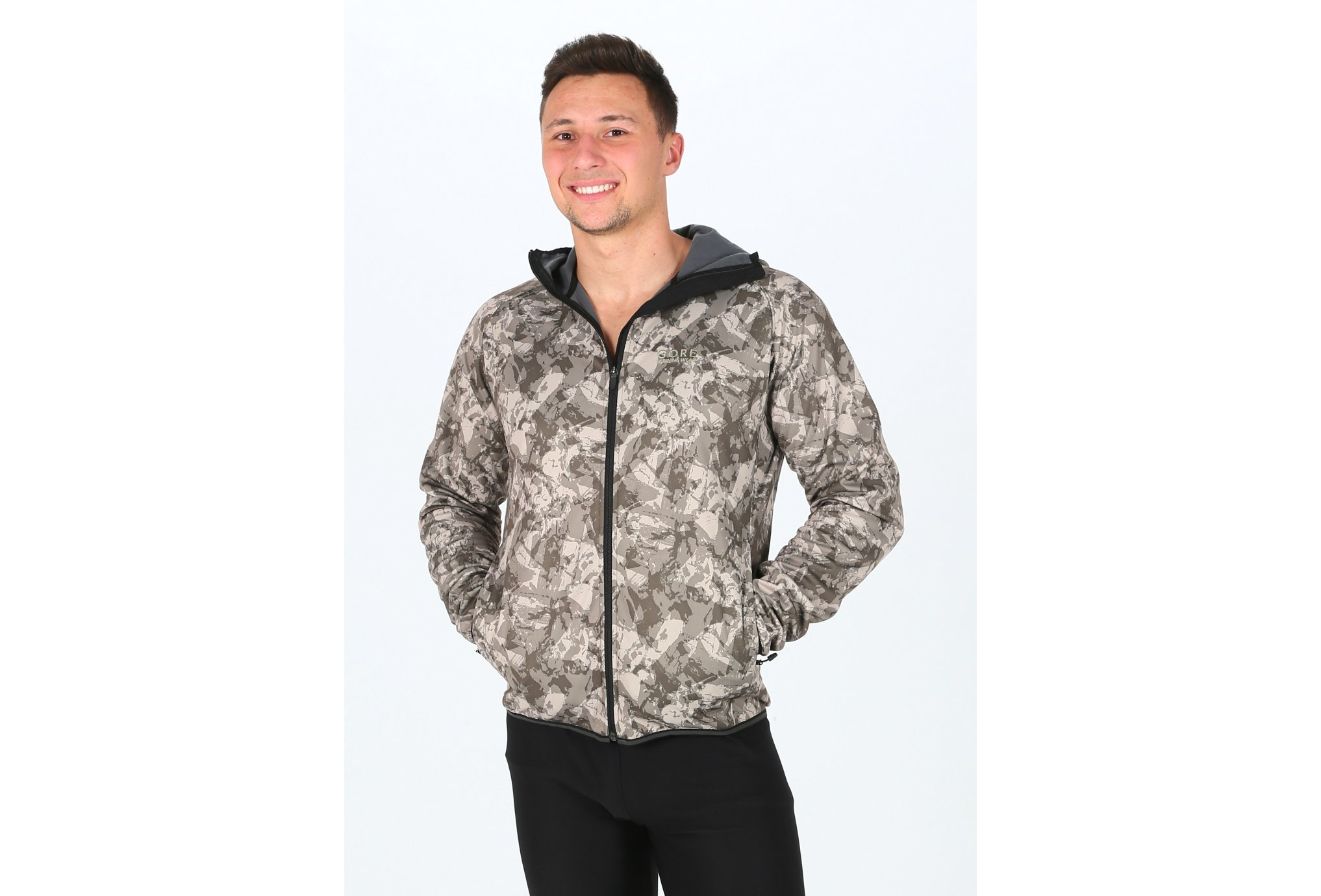 Gore Wear Essential Print Windstopper Softshell M vêtement running homme