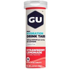 GU Tablettes Hydratation Drink - Fraise/Limonade
