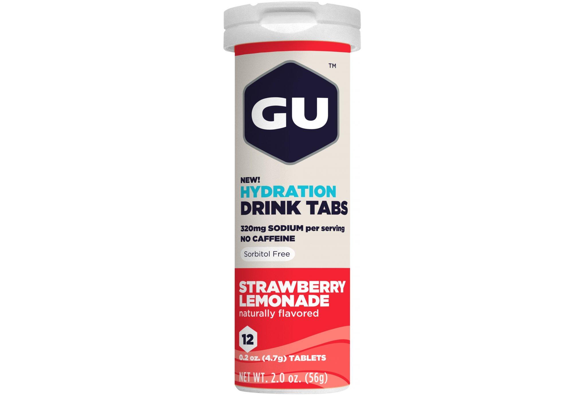 GU Tabletas Hidratantes Drink - Fresa/Limonada Diététique Boissons