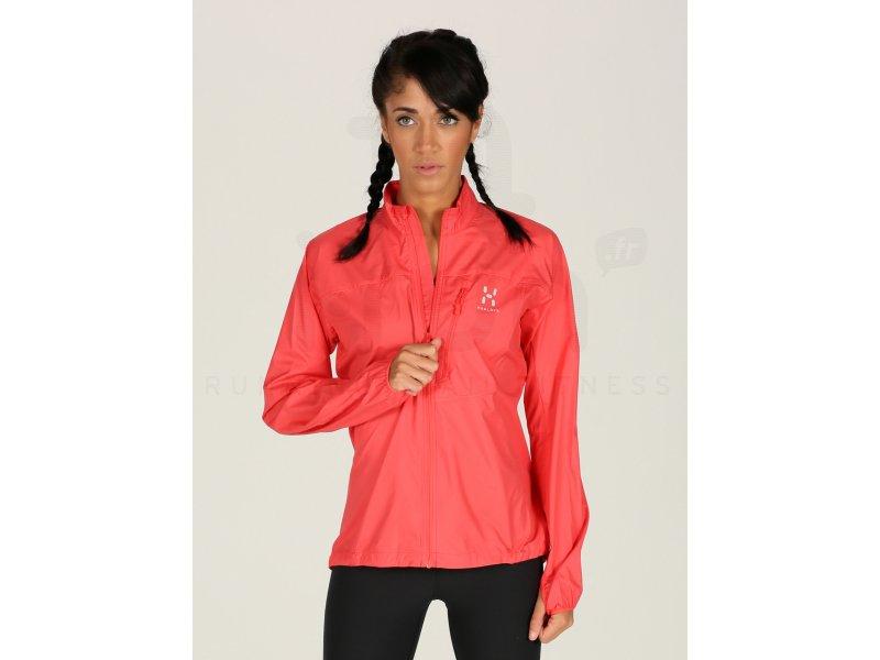 Haglöfs Veste Shield W pas cher - Vêtements femme running Vestes   coupes  vent en promo 9db25973c487