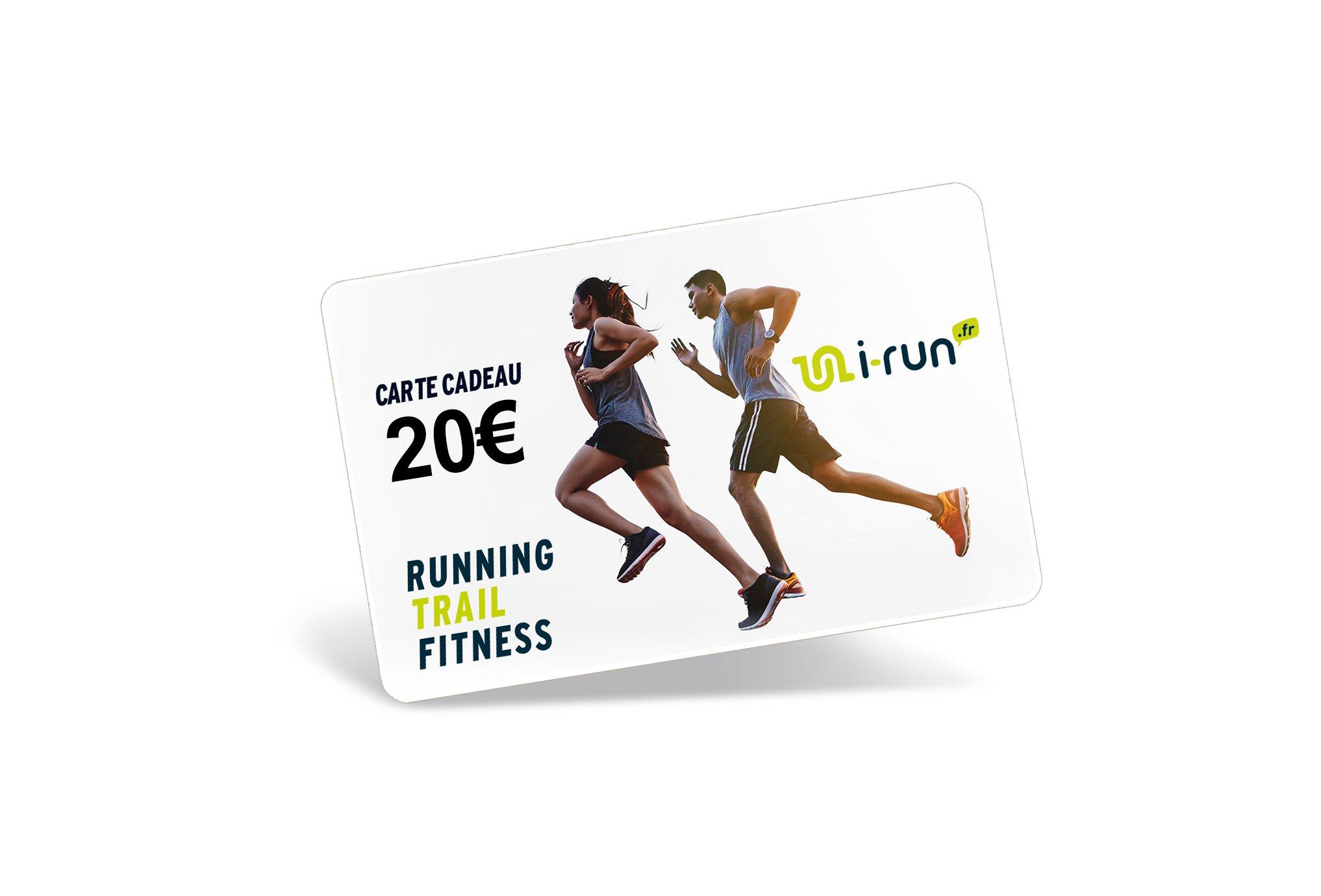 i-run.fr Carte Cadeau 20 Cartes Cadeau