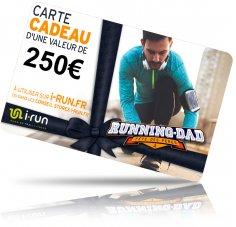 i-run.fr Carte Cadeau 250 Fête des Pères