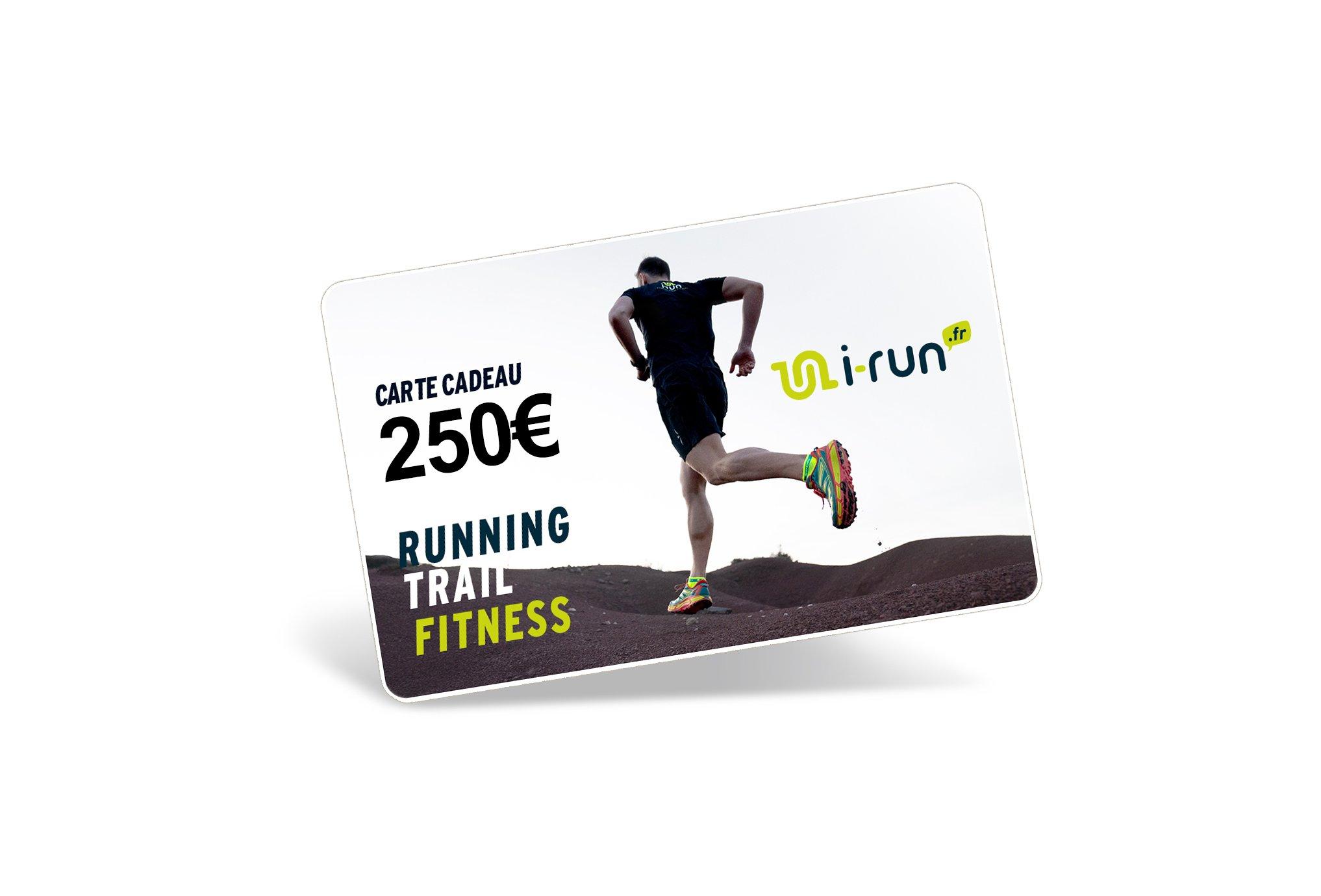i-run.fr Carte Cadeau 250 M Cartes Cadeau
