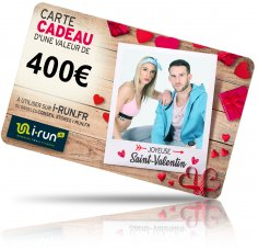 i-run.fr Carte Cadeau 400 Saint Valentin