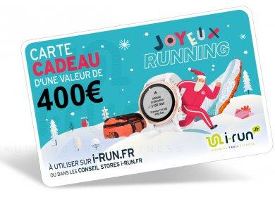i-run.fr Carte Cadeau 400 Spéciale Noël