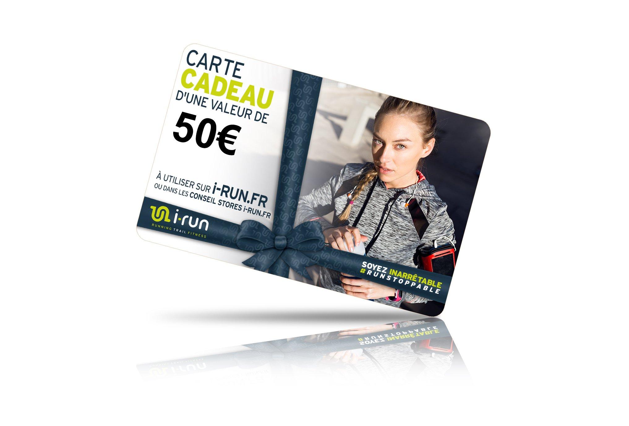 I-Run.Fr Carte cadeau 50 w cartes cadeau