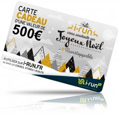 i-run.fr Carte Cadeau 500 Spéciale Noël