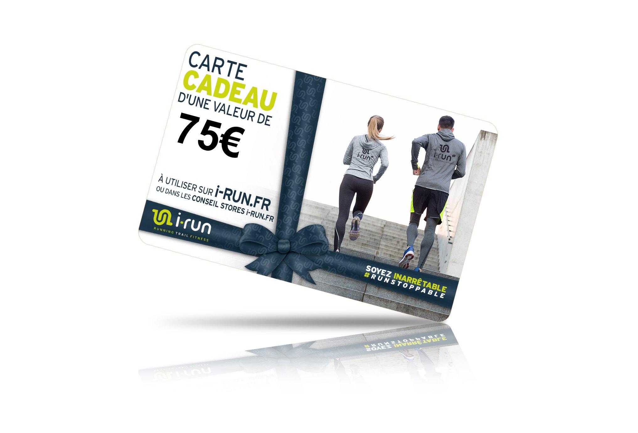 I-Run.Fr Carte cadeau 75 cartes cadeau