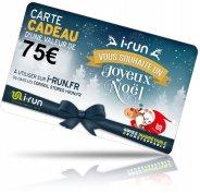 i-run.fr Carte Cadeau 75 Spéciale Noël