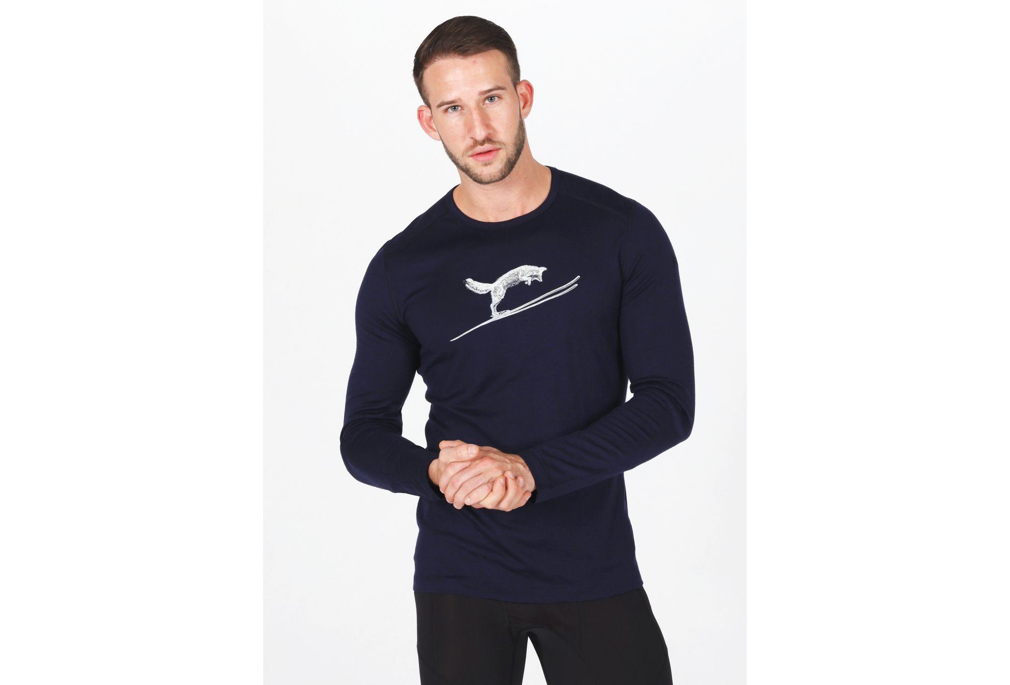 Icebreaker 200 Oasis Fox Jump M Diététique Vêtements homme