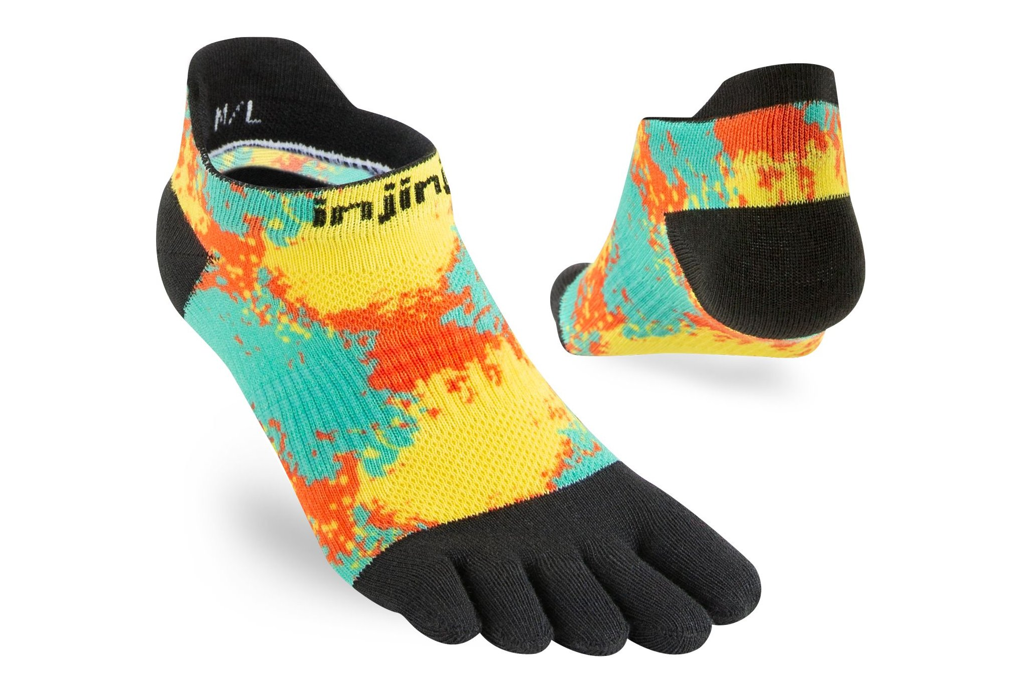 Injinji Run Lightweight No-Show Coolmax W Chaussettes