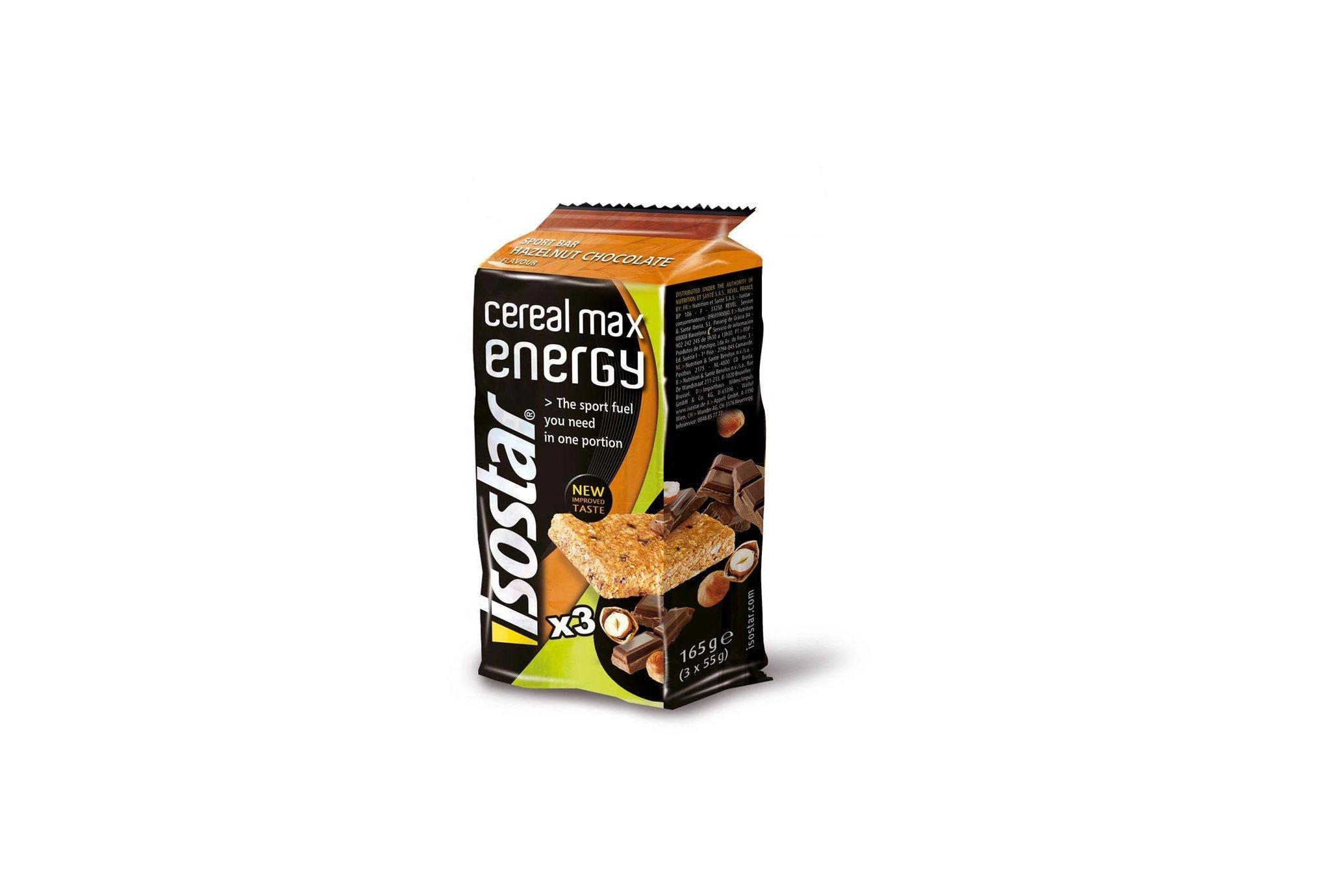 Isostar Barritas energéticas Max Energy- chocolate avellana Diététique Barres