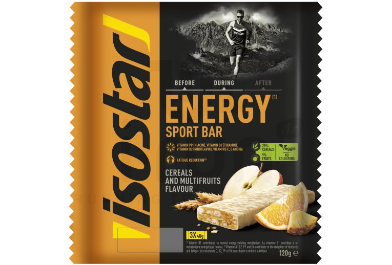 Isostar Barritas energéticas High Energy - Multifrutas
