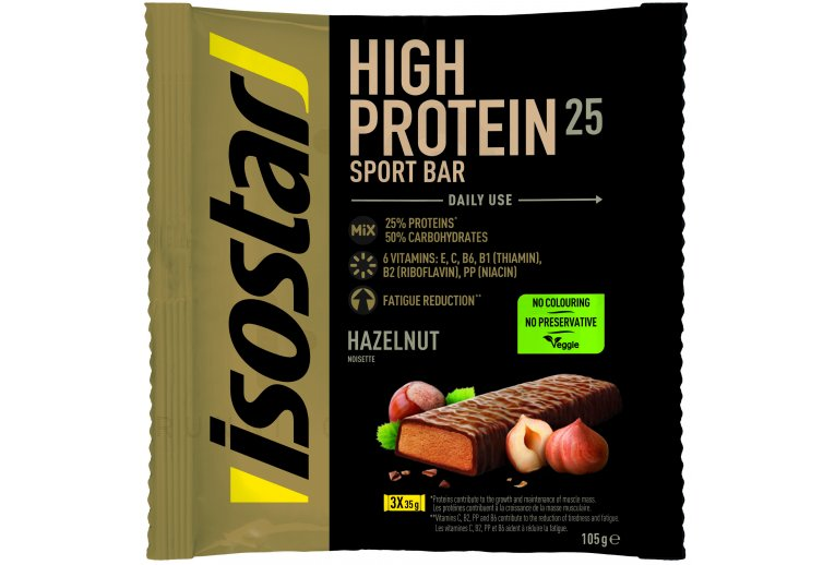 Isostar Barres High Protein 25 - Noisette