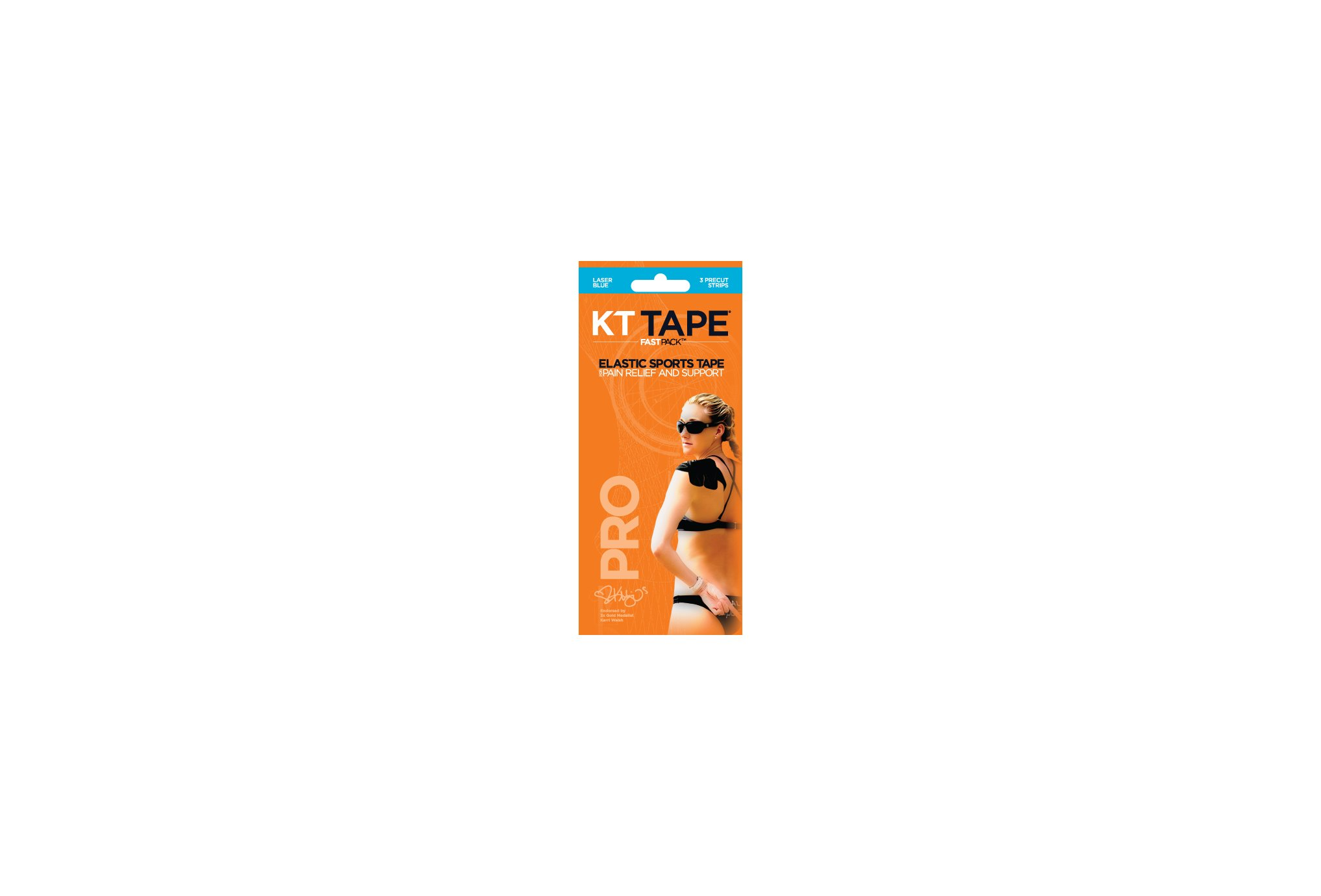 Kt Tape fast pack 3 bandes synthetic pro protection musculaire & articulaire