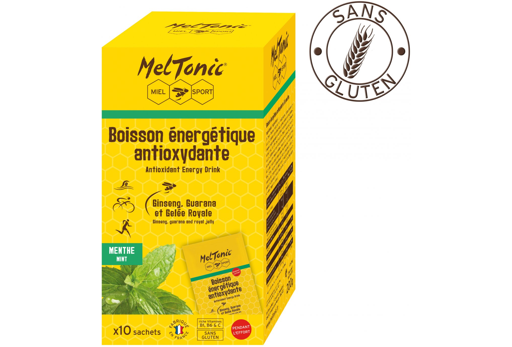 MelTonic Bebida Energética Antioxidante- Menta Diététique Boissons