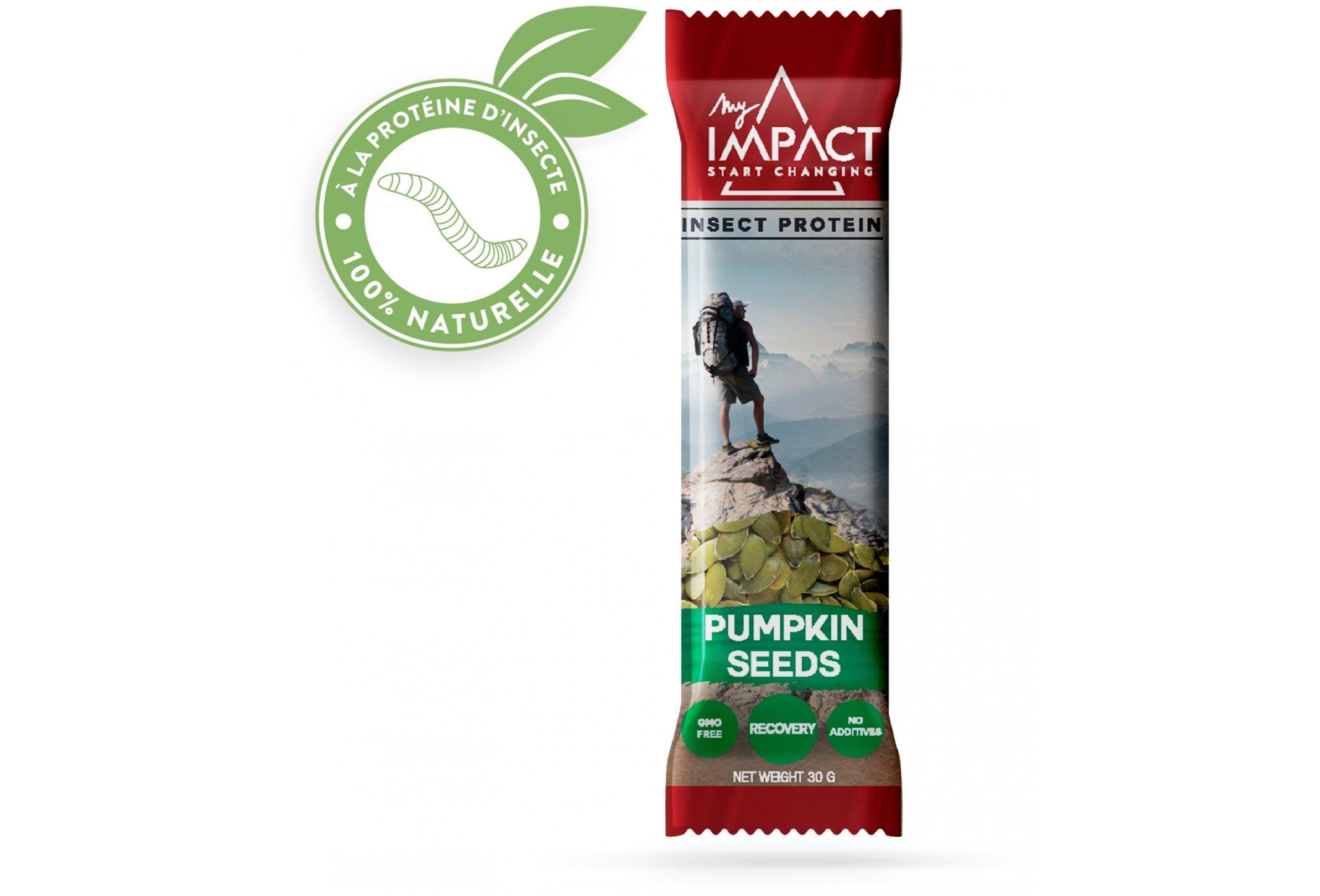 Micronutris - My Impact My Impact -Barre aux insectes / Graines de Courge Diététique Barres