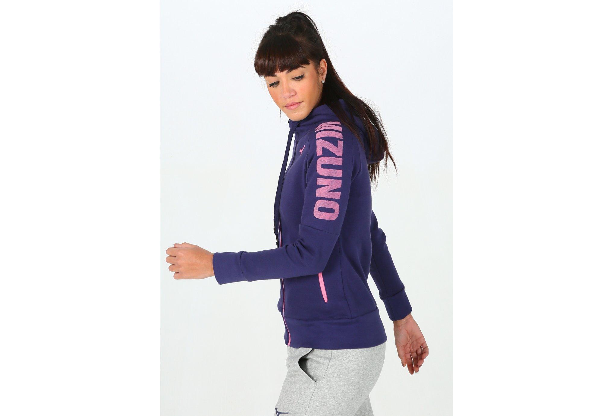 Mizuno Heritage Zip Hoody W Diététique Vêtements femme