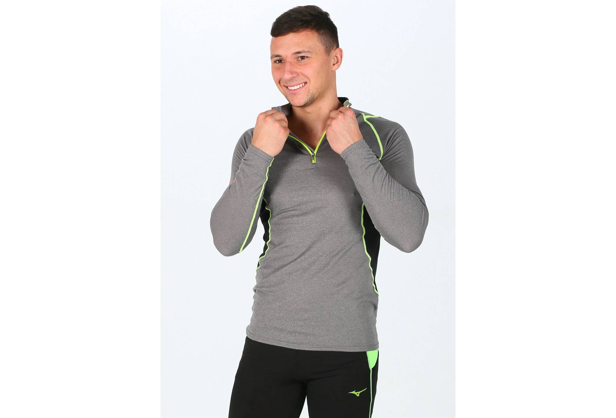 Mizuno Merino Wool 1/2 Zip M vêtement running homme