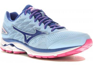 Femmes Waverider W Chaussures De Course, Mizuno Bleu