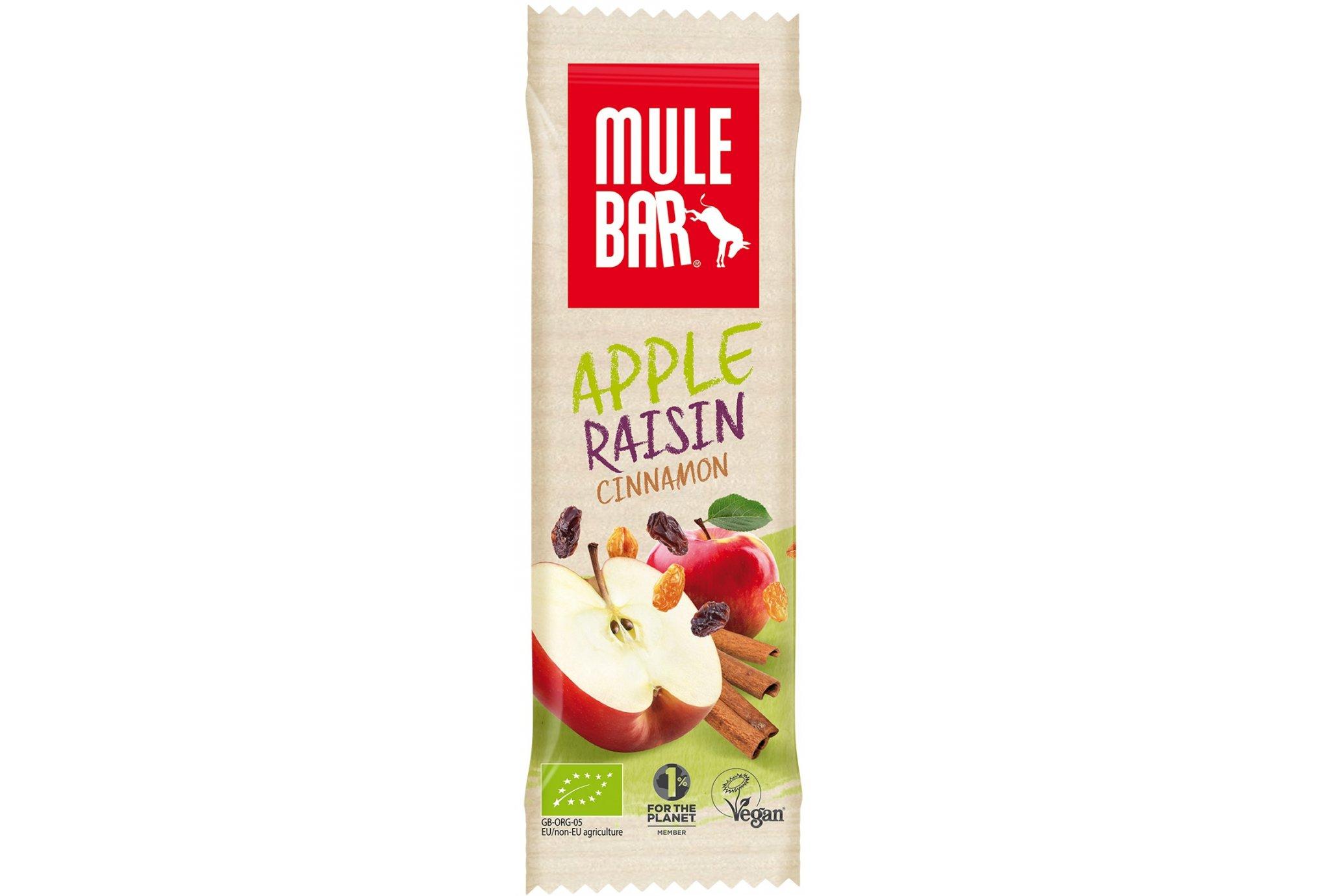 Mulebar Barre énergétique Bio & Vegan - Pomme/Raisin/Cannelle Diététique Barres