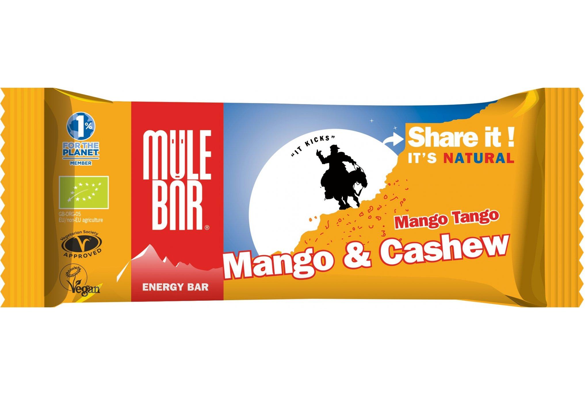 Mulebar Barre énergétique Mango Tango - Mangue/Noix de Cajou Diététique Barres