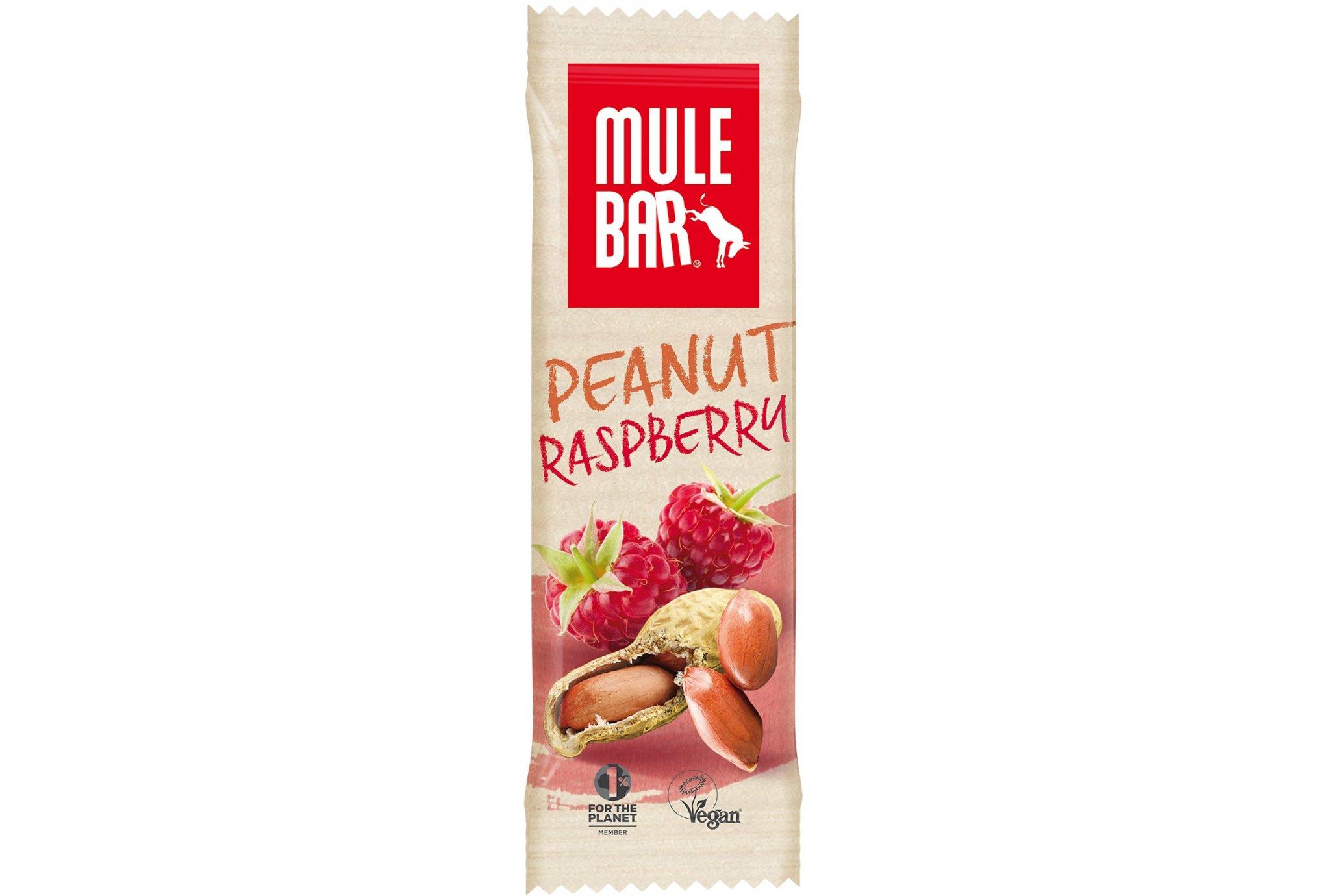 Mulebar Barre énergétique Vegan - Cacahuète/Framboise Diététique Barres