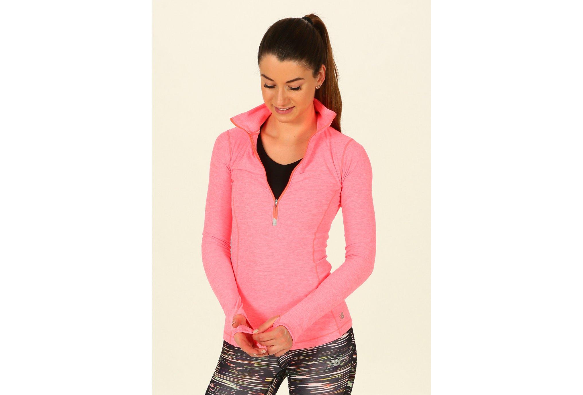 New Balance Maillot Impact Half Zip W Diététique Vêtements femme