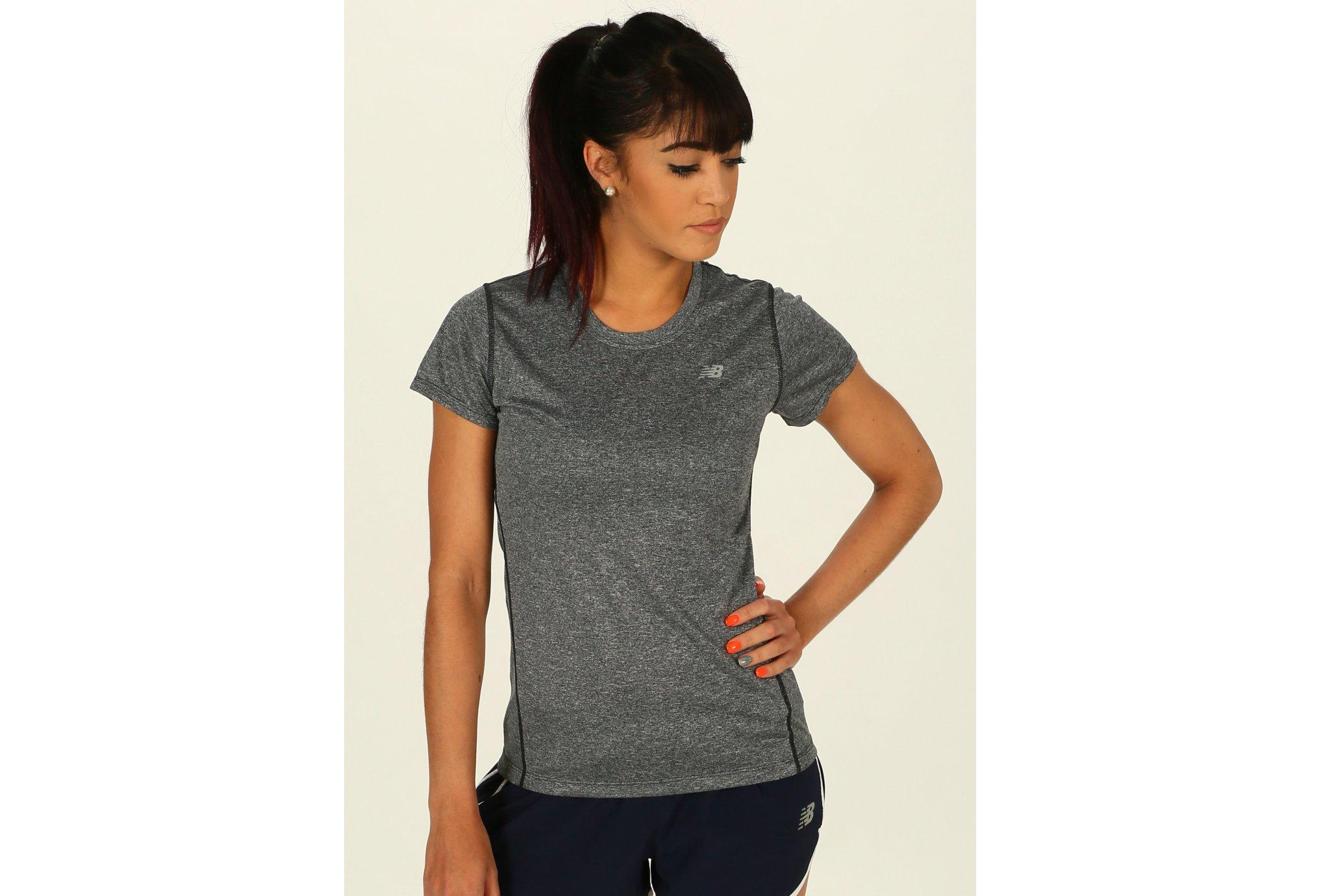 New Balance Tee-shirt Heathered W vêtement running femme