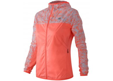 03698e643f New Balance Veste Windcheater W femme Orange pas cher