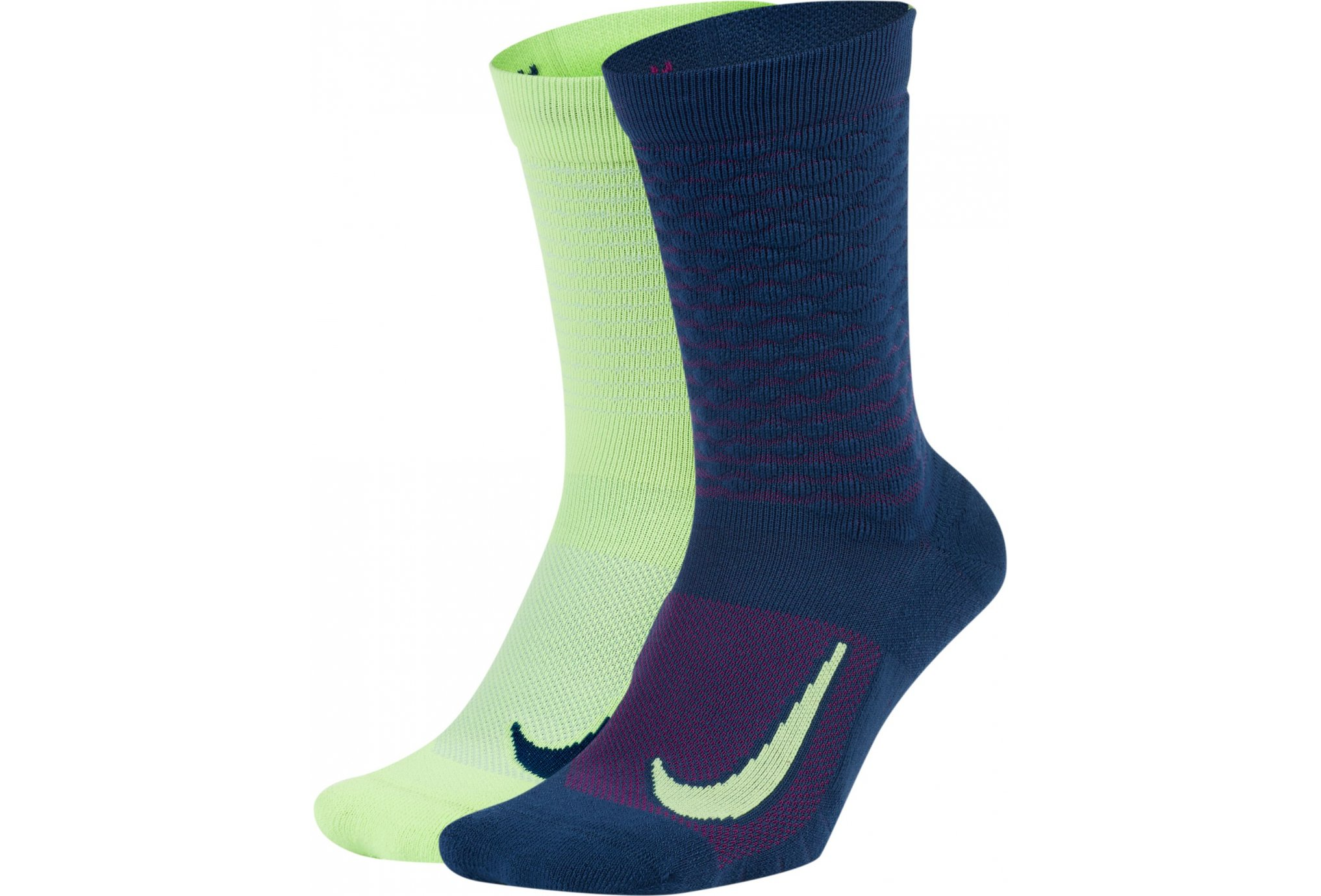 Nike 2 paires Multiplier Crew Heat Up and Cool Down Chaussettes