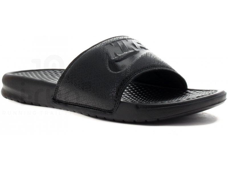 sports shoes f376b fba6d Nike Claquettes Benassi JDI M homme Noir
