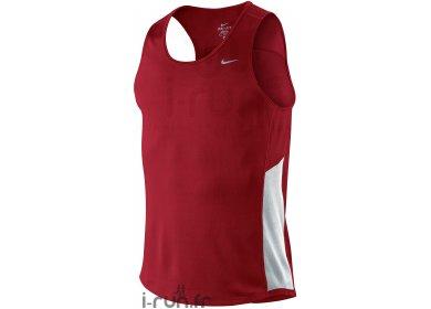 photos officielles 41d82 bf3c9 Nike Débardeur Miler Men Rouge et blanc