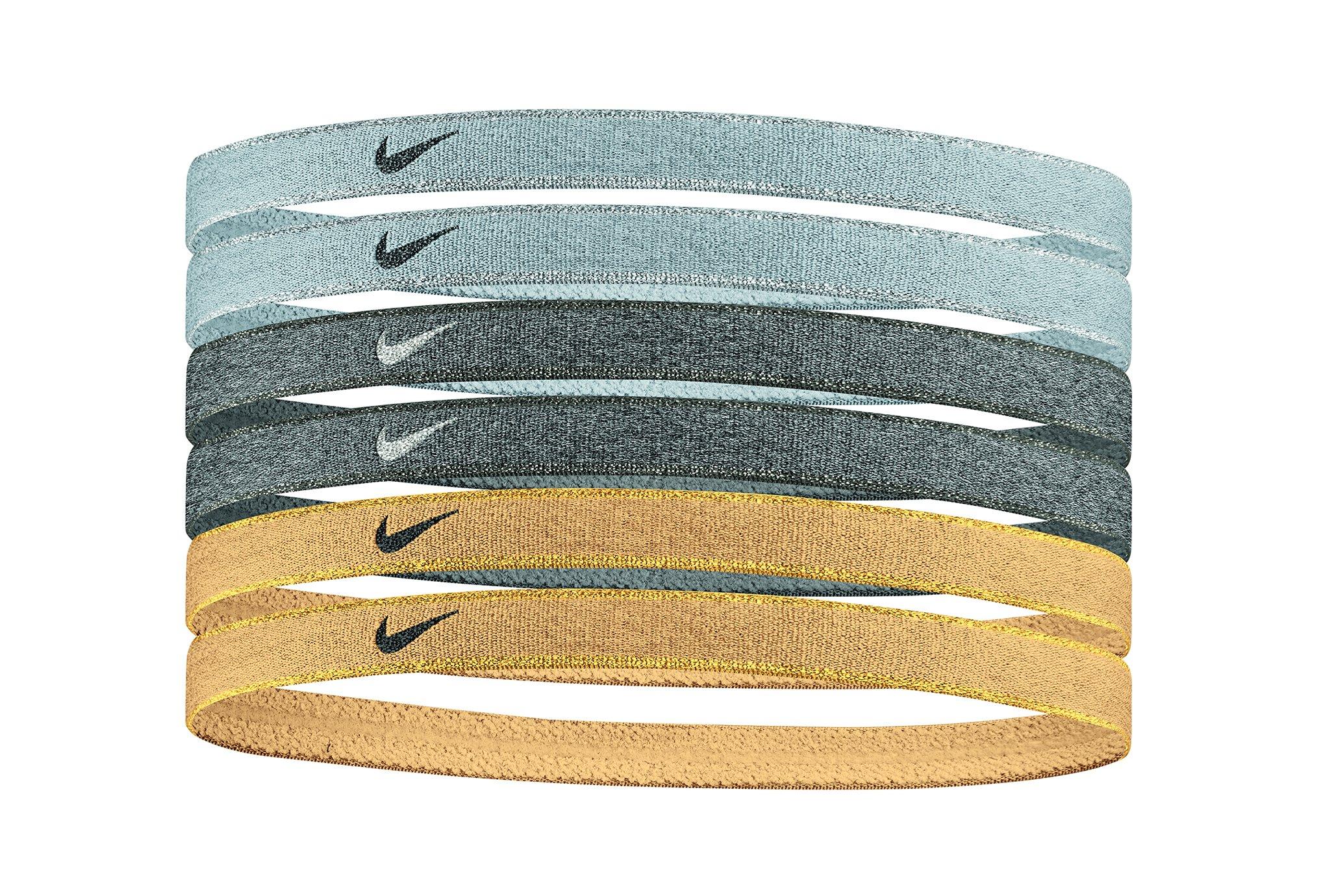 Nike Elastiques Headbands Metallic x6 Casquettes / bandeaux