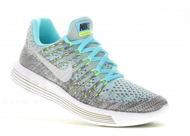 100% authentic 7a23d a50a0 Nike Lunarepic Low Flyknit 2 GS femme Gris/argent pas cher