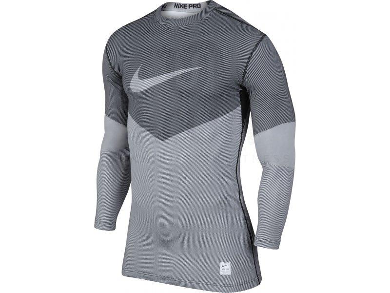 Nike Pro Combat Hyperwarm Compression Dri Fit Max Lines M Vêtements homme Compression