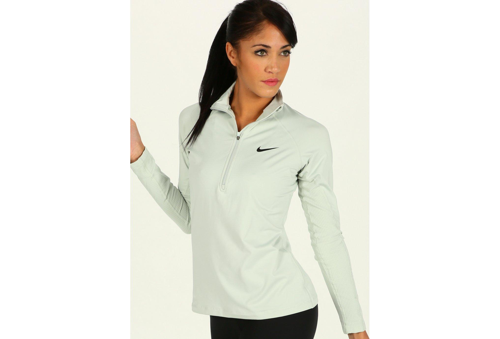 Nike Pro Warm 1/2 Zip W Diététique Vêtements femme