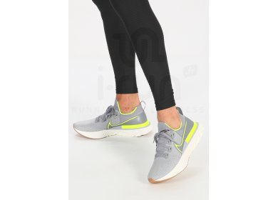 Nike React Infinity Run Flyknit M homme Gris/argent pas cher