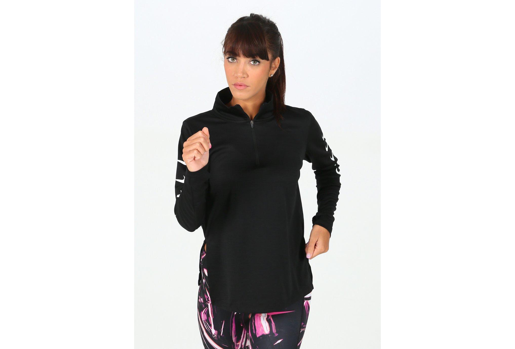 Nike Run Swoosh 1/2 Zip W vêtement running femme